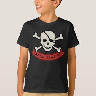 Skull - Brown Kids' Basic Hanes Tagless T-Shirt