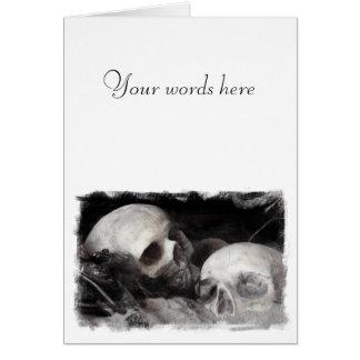 Skull Buddies Greeting Card