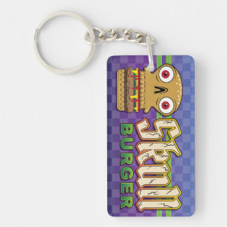 Skull Burger Single-Sided Rectangular Acrylic Key Ring