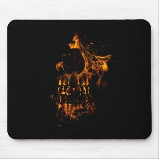 Skull Burning Digital Collage Illustration Mousepad
