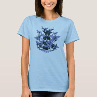 Skull Butterfly Flourish Ladies T-Shirt