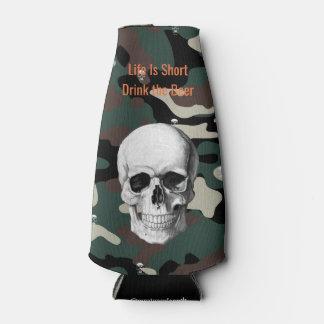 Skull Camo Bottle Cooler