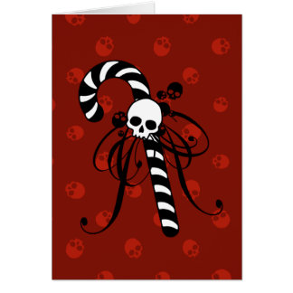 Skull Candy Cane Card