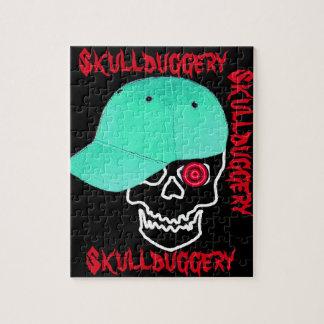 Skull cap skullduggery humor funny jigsaw puzzle
