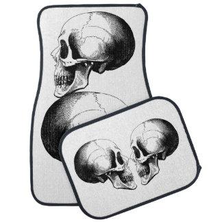 Skull Car Floor Mats (Full Set)