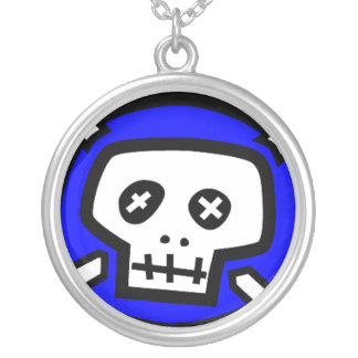 Skull Chain Round Pendant Necklace