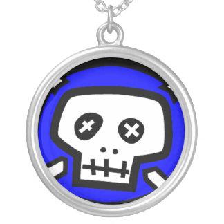 Skull Chain Round Pendant Necklace