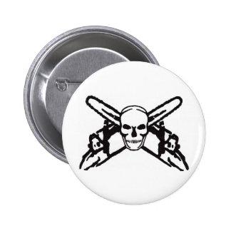 Skull & Chainsaws 6 Cm Round Badge
