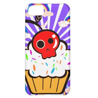 Skull Cherry Cupcake Rainbow Sky Case For iPhone 5C