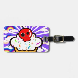 Skull Cherry Cupcake Rainbow Sky Tag For Bags