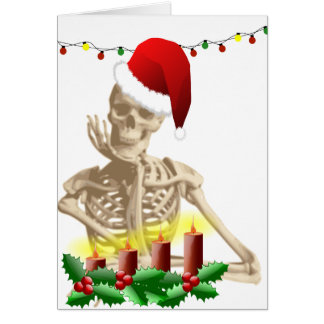 skull christmas greeting card