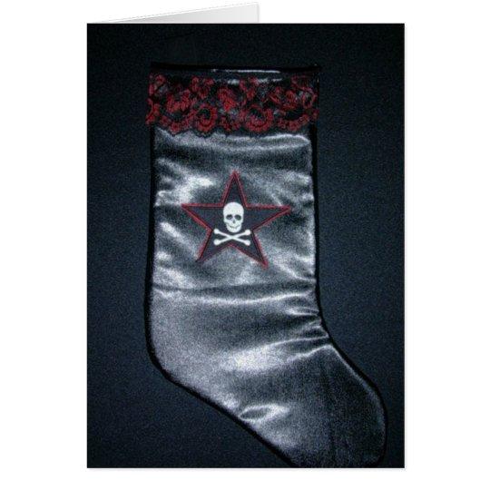 Skull Christmas Stocking Card