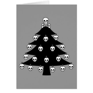 Skull Christmas Tree Card