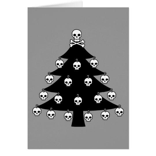 Skull Christmas Tree Card