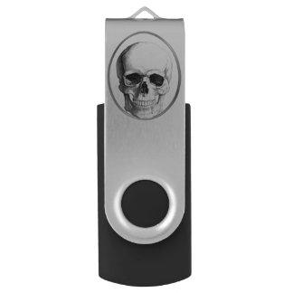 Skull Circle USB Drive Swivel USB 2.0 Flash Drive