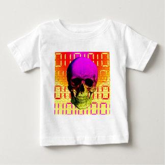 Skull circuit in a digital code. t-shirt