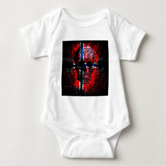 Skull circuit (norway-flag) baby bodysuit