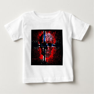 Skull circuit (norway-flag) baby T-Shirt