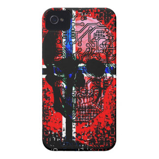 Skull circuit (norway-flag) iPhone 4 Case-Mate case