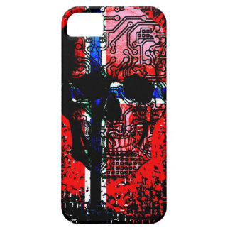 Skull circuit (norway-flag) iPhone 5 cover