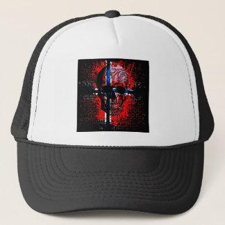 Skull circuit (norway-flag) trucker hat