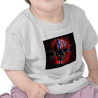 Skull circuit (norway-flag) t shirts