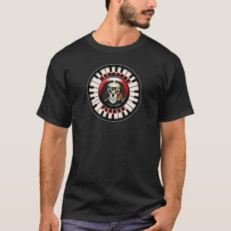 Skull Circular Keyboard Player T-Shirt