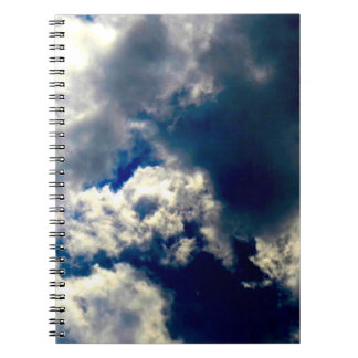 Skull Clouds Notebook