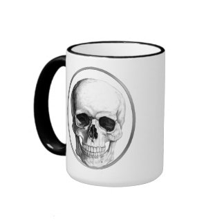 Skull coffee Mug Ringer Mug