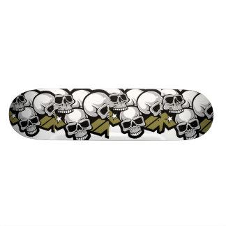skull comic skateboard