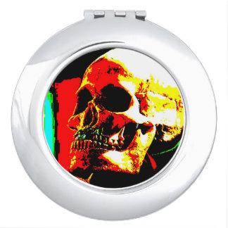 Skull Compact Mirror For Makeup