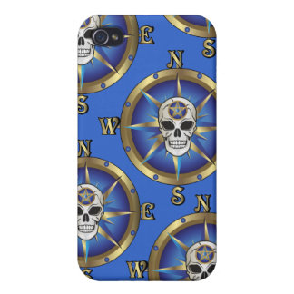 Skull Compass Case For iPhone 4