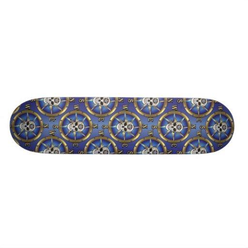 Skull Compass Custom Skate Board
