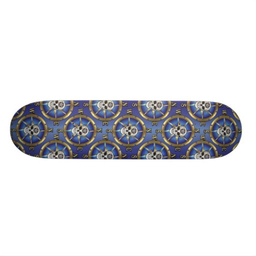 Skull Compass Skateboard Deck
