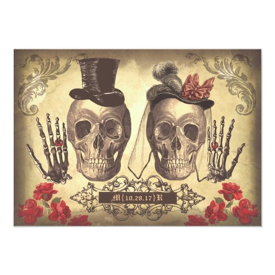 Skull Couple Day of The Dead engagement party