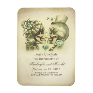 Skull couple Day of the Dead Save the Date Magnet