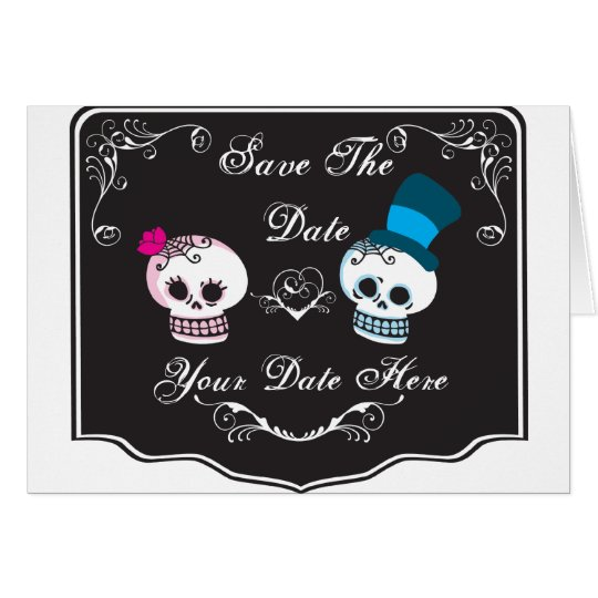Skull Couple Invitation