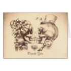 Skull couple old wedding thank you cards
