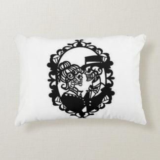 Skull Couple Throw Pillow