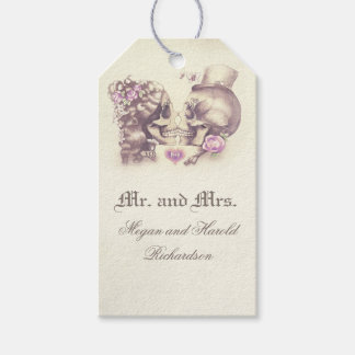 Skull Couple Vintage Purple Wedding