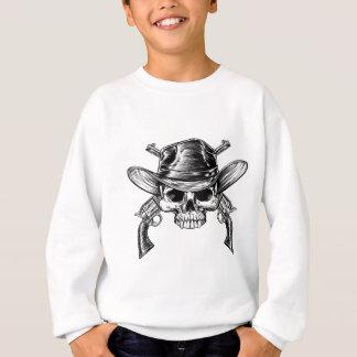 Skull Cowboy and Guns Sweatshirt