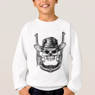 Skull Cowboy Hat and Guns Sweatshirt