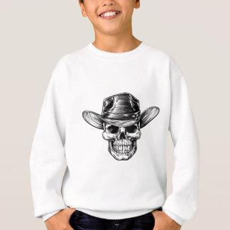 Skull Cowboy Hat Drawing Sweatshirt
