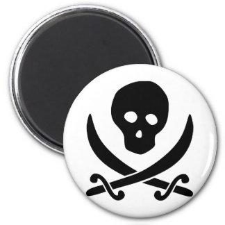 Skull / Craneo / Crânio / Crâne 6 Cm Round Magnet