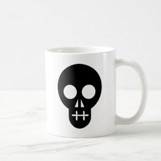 Skull / Craneo / Crânio / Crâne Basic White Mug