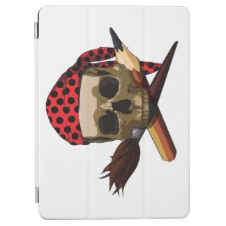Skull crazy artist iPad air cover