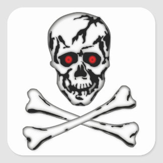 Skull & Cross Bone! Square Sticker