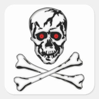 Skull & Cross Bone! Square Sticker