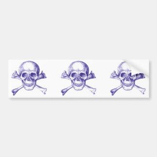 Skull & Cross Bones. Car Bumper Sticker