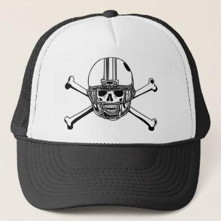 Skull & Cross Bones Football Player Trucker Hat